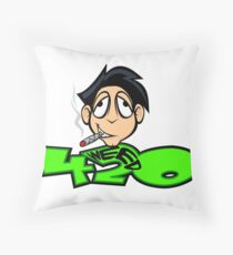 The WeedHed Stoner Guy Throw Pillow