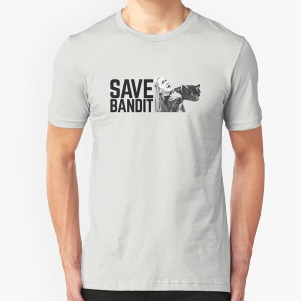 SAVE BANDIT - Angela's Cat Needs a Rescue Slim Fit T-Shirt