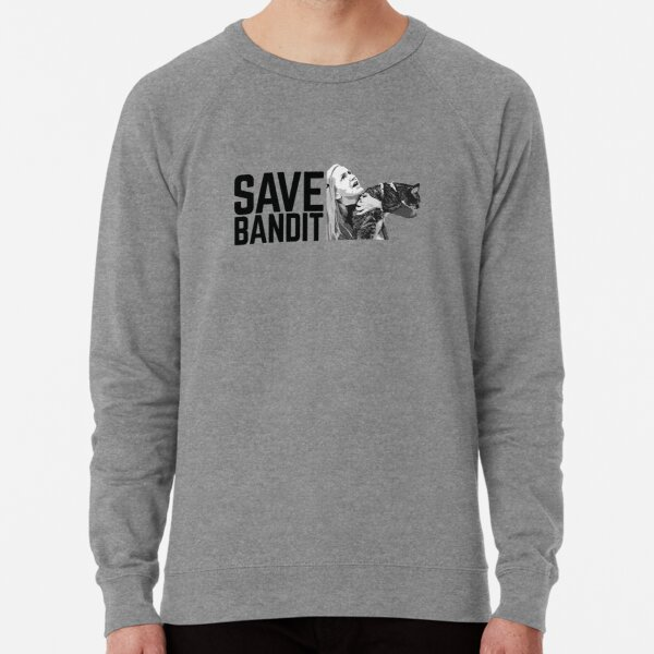 SAVE BANDIT - Angela's Cat Needs a Rescue Lightweight Sweatshirt