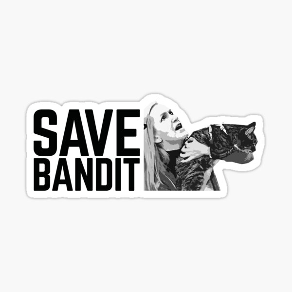 SAVE BANDIT - Angela's Cat Needs a Rescue Sticker