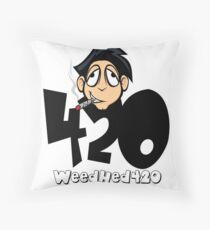 420 WeedHed Stoner Guy Throw Pillow