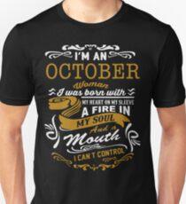 I'm an October women Unisex T-Shirt