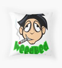 WeedHed Stoner Guy 420 Throw Pillow