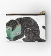 Black Kitty Drinks Tea Studio Pouch