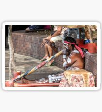 Australian Aboriginal Didgeridoo Player Sticker