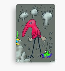 47. Walking through the Mushrooms Canvas Print