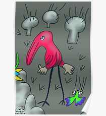 47. Walking through the Mushrooms Poster