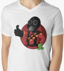 RED Pyro Men's V-Neck T-Shirt