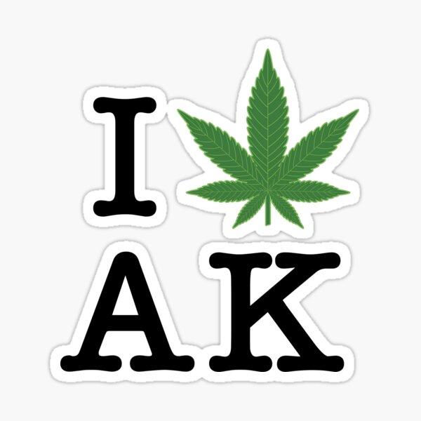 I [weed] Alaska Sticker