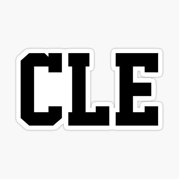 CLE - Cleveland Sticker