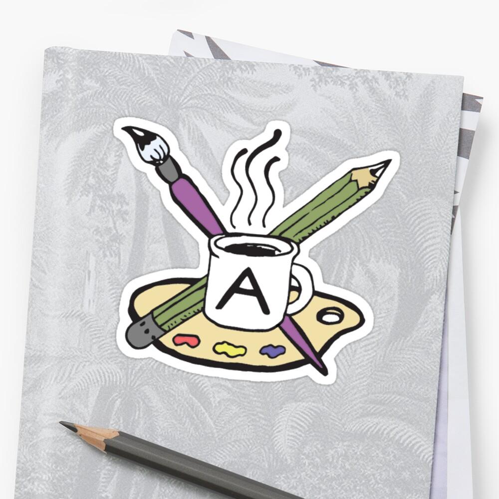 Artist Crest Sticker by cicadahaus