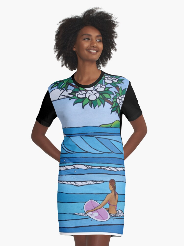 Perfect Paddle Out Graphic T-Shirt Dress Front