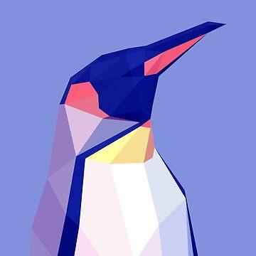 Low Poly Penguin Portrait by McBethAllen