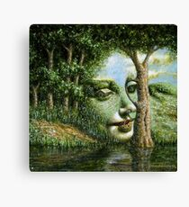 Apparition of an Angel in a Landscape II Canvas Print