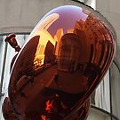 Reflections on a Sculpture, Rockefeller Center, New York City by lenspiro