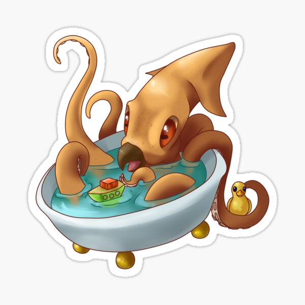 Baby Kraken Bathtime Sticker