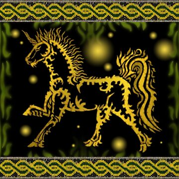 Tribal Unicorn by superferretIX