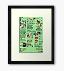 1947 Poster for Birthday/Events/Music/Movies/Books...etc. Framed Print
