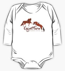 Cynet Farm Training Center - Silver Background / mini horse training driving jumping One Piece - Long Sleeve