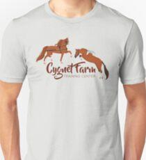 Cynet Farm Training Center - Silver Background / mini horse training driving jumping Unisex T-Shirt