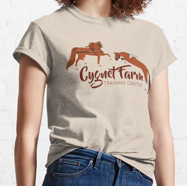 Cynet Farm Training Center - Silver Background / mini horse training driving jumping Classic T-Shirt