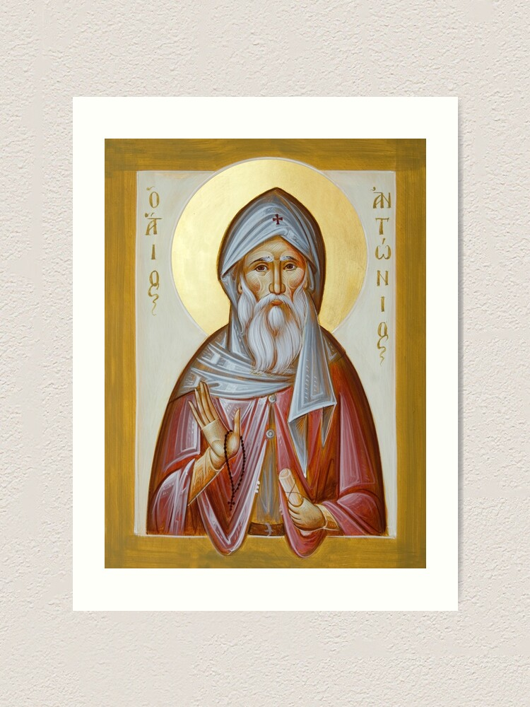 Alternate view of St Anthony the Great Art Print