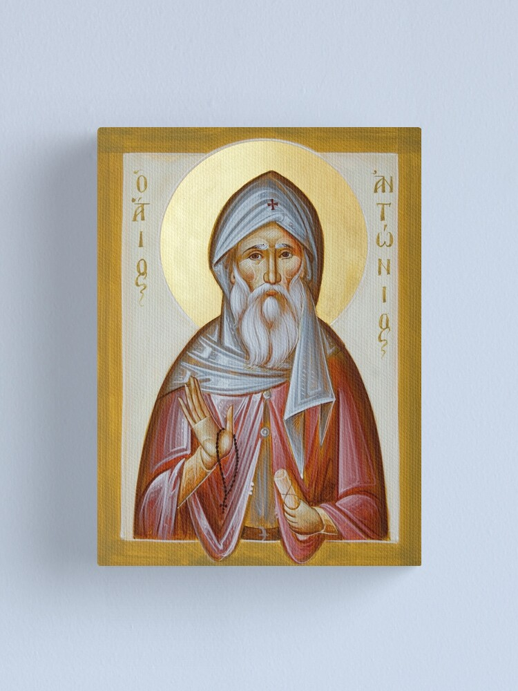 Alternate view of St Anthony the Great Canvas Print