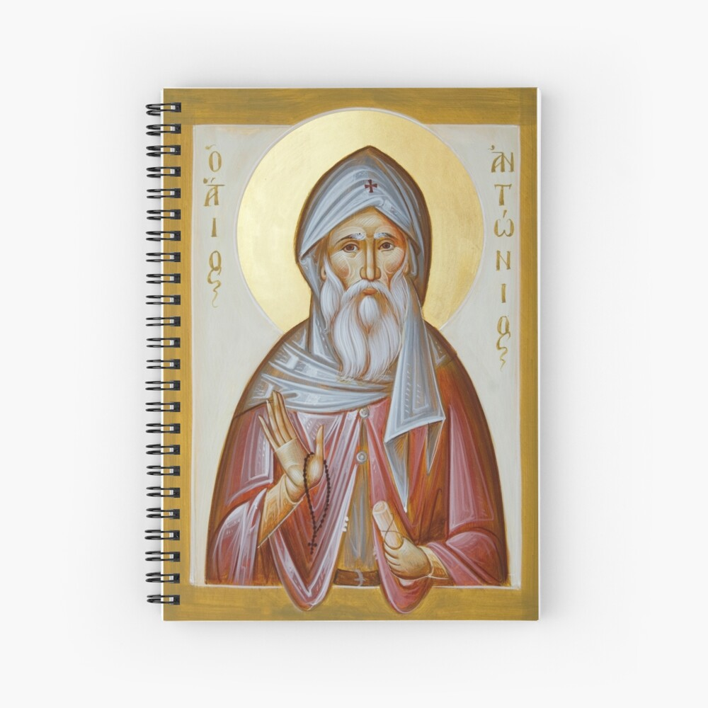 St Anthony the Great Spiral Notebook