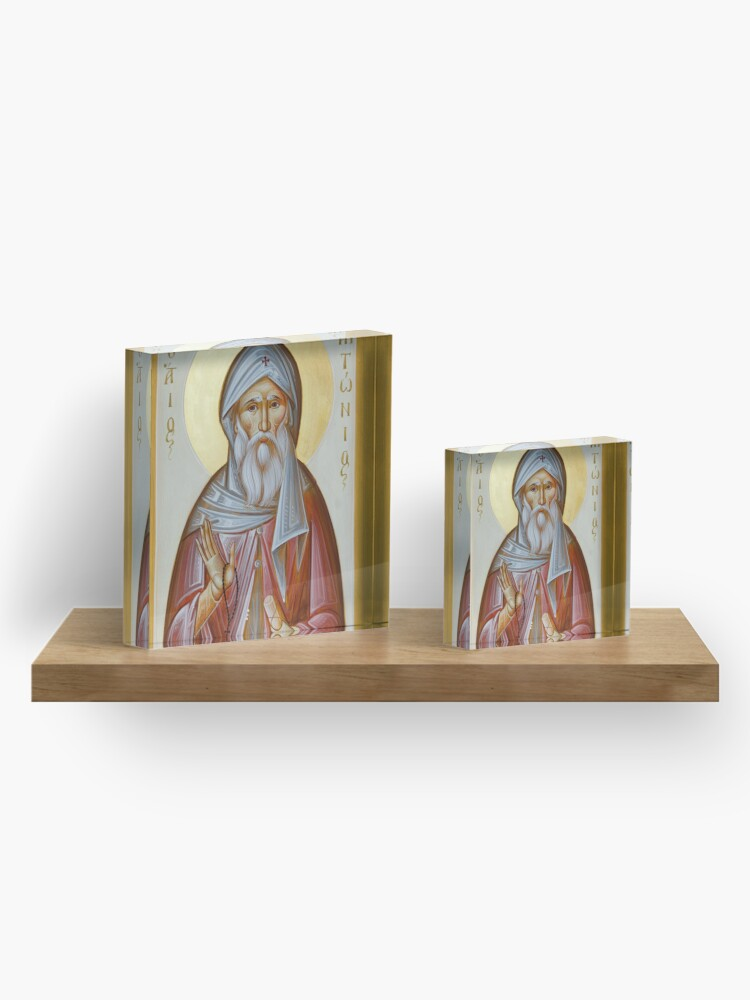 Alternate view of St Anthony the Great Acrylic Block