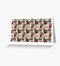 Red & White Roses Greeting Card