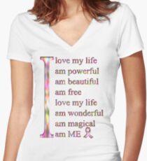 I love ME Women's Fitted V-Neck T-Shirt
