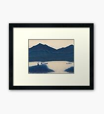 Blue Series #1 Bali Fishermen Framed Print