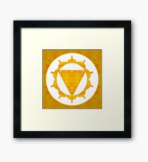 Energy Center Abstract Chakra Artwork Framed Print