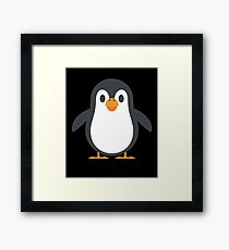 Cute Penguin Graphic Design Love Friend Happy Framed Print