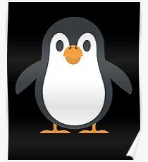 Cute Penguin Graphic Design Love Friend Happy Poster