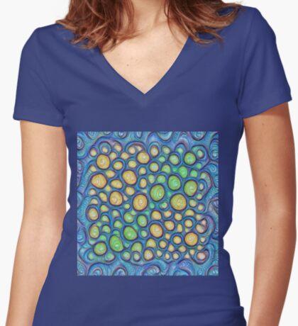 Frozen stones #DeepDream #Art Fitted V-Neck T-Shirt