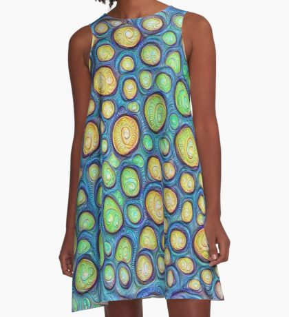 Frozen stones #DeepDream #Art A-Line Dress