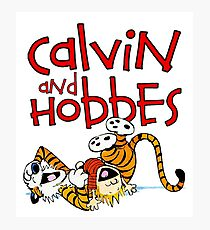 Calvin Hobbes Photographic Print