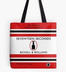 Seventeen Seconds Book Cover Tote Bag