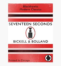 Seventeen Seconds Book Cover Photographic Print