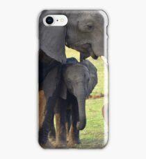 Motherly love, elephants iPhone Case/Skin