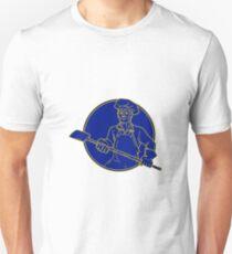 Baker-Holding-Schalen-Kreis-Monolinie Unisex T-Shirt
