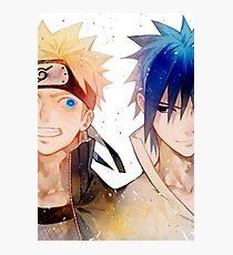Naruto and Sasuke Photographic Print