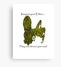 Respect Your Elders Cthulhu Canvas Print