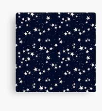 Seamless pattern with star in dark sky Canvas Print