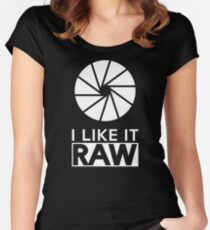 Photography - I Like It Raw T Shirt Women's Fitted Scoop T-Shirt