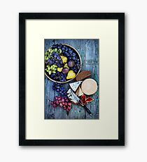Still life with cheese Framed Print
