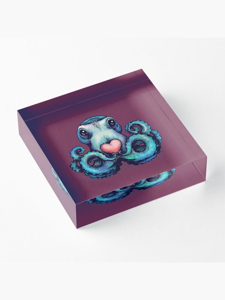 Alternate view of Octopus needs love 3 Acrylic Block