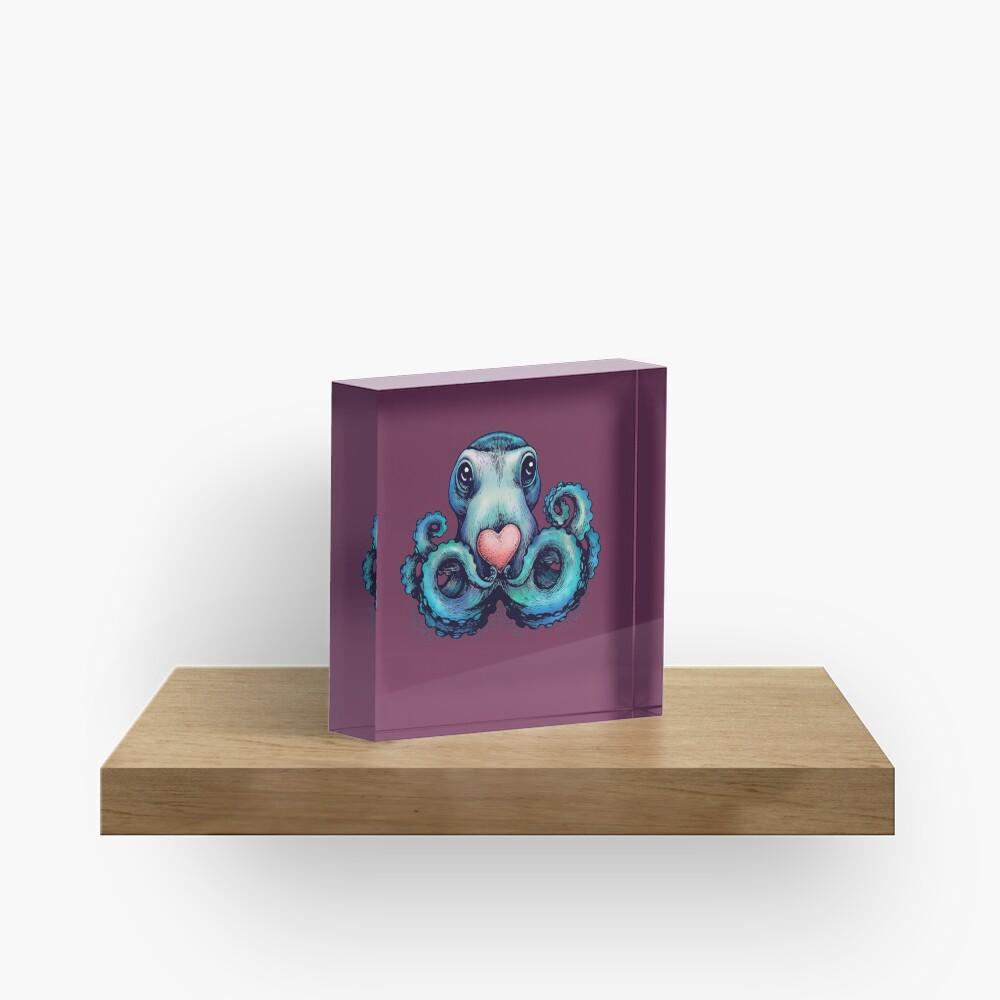Octopus needs love 3 Acrylic Block