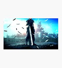 Crisis Core: Final Fantasy VII - Zack fair (Buster Sword) Photographic Print